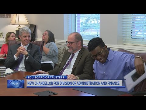 ECU names new vice chancellor of administration, finance
