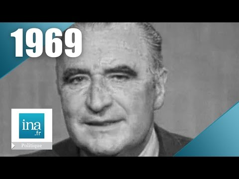 Georges Pompidou - Campagne présidentielle 1969 (2ème tour)   Archive INA
