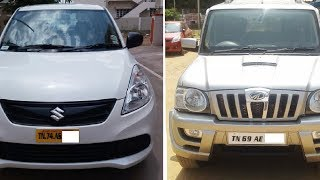 Used Car Mahindra Scorpio TN 69 | Model – 2012/Maruti Suzuki Dzire T Board TN 74 |Tirunelveli