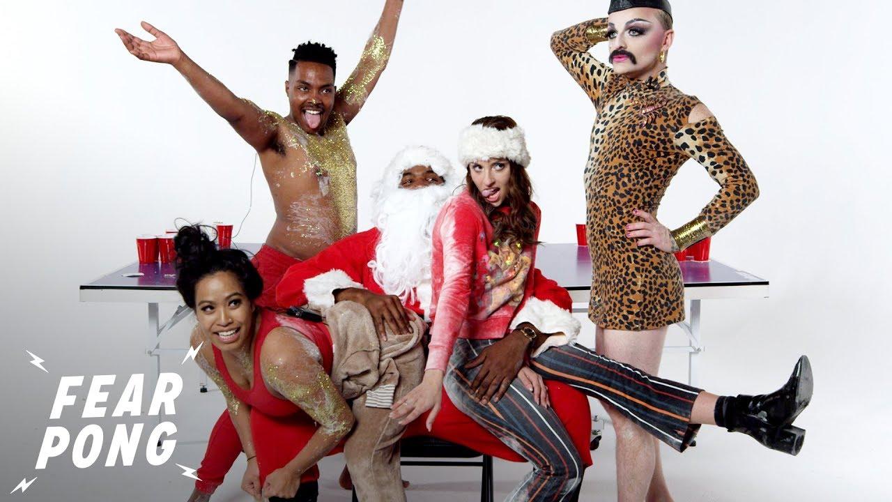 Fear Pong Holiday Edition! (Madison, Karlos, Strawberry Shartcake & Amalia) | Fear Pong | Cut