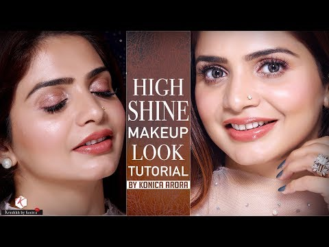 Glossy Makeup Tutorial | Shiny Makeup Tutorials 2018 | Krushhh By Konica thumbnail