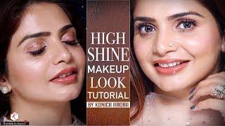 Glossy Makeup Tutorial | Shiny Makeup Tutorials 2018 | Krushhh By Konica