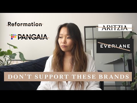 BRANDS I NO LONGER SUPPORT | pangaia, reformation, aritzia, everlane