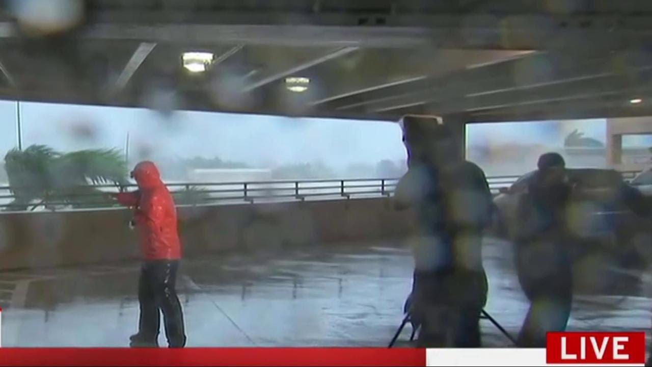 Anatomy Of A Hurricane Reporting Scene On Tv Msnbc Youtube