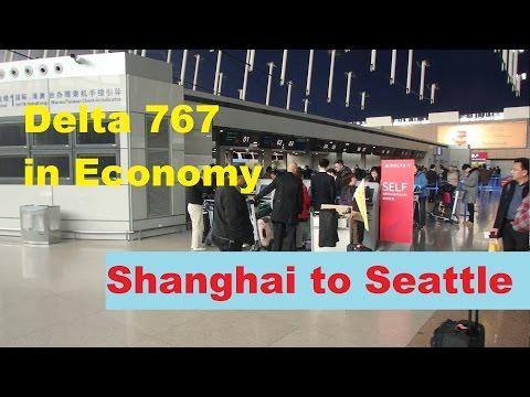 Delta | 767 in Economy Shanghai to Seattle