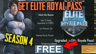 Get Free Elite Royal Pass In PUBG Mobile | SEASON 4 Elite Royal Pass FREE |Elite Royal Pass Giveaway