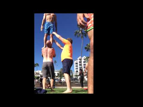 Handstands, Birds and Sports Acro at Muscle Beach with Tari Mannello