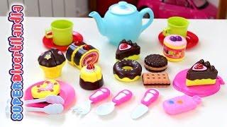 Merienda De Pasteles Y Galletas. Dulces De Juguete  - Toy Cupcakes And Cookies