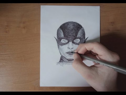 видео: speed drawing the flash ( ezra miller ) | Рисунок Флеша ( Эзры Миллера)