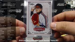 10/22/2018 2018 Leaf Best of Baseball 5 Box Random Teams #12