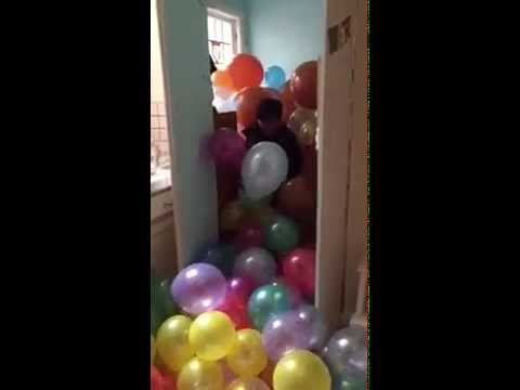 Mighty Girl: Filling Hank's Room with Balloons