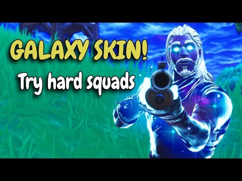 SOLO SQUADS vs Try hard teams! | NEW GALAXY SKIN!