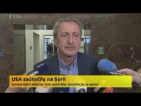 Martin Stropnický Americké bombardování syrské letecké základny