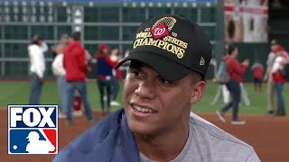"Nationals' breakout star Juan Soto after winning World Series: ""I'm living the dream"" | FOX MLB"