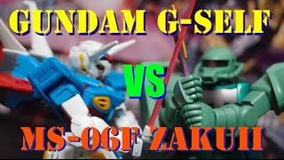gundam stop motion movie g self vs ms 06f zaku ii gunpla battle