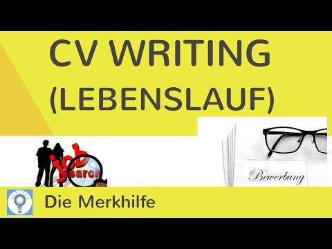 How to write a CV (Curriculum Vitae) - Lebenslauf im Englischen schreiben