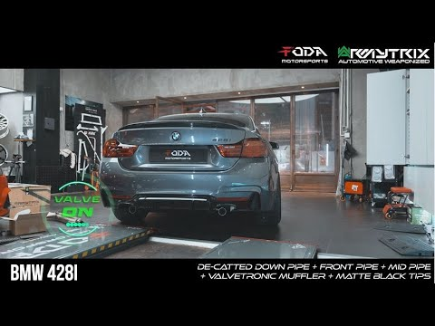 BMW 428i W/ ARMYTRIX Catless Turbo-back Valvetronic Exhaust, Loud Revs & Accelerations Sound!