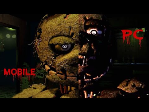 PC vs Mobile Fnaf 3 Comparison