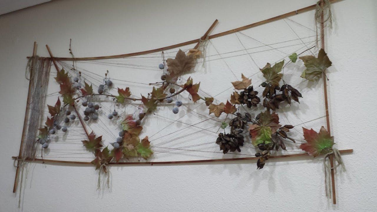 Diy cuadro de ramas y hojas reciclado youtube - Manualidades con cuadros ...