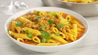 Макароны с фаршем в сырном соусе. Готовим на одной сковороде за 20 минут. Рецепт от Всегда Вкусно!