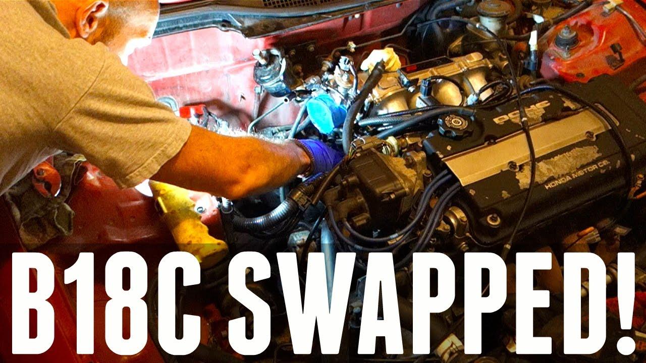 THE B18 SWAP FITS!!! - Honda Civic Ek9 Build