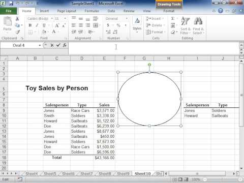 excel 2010 display the contents of a worksheet cell in a shape or text box youtube. Black Bedroom Furniture Sets. Home Design Ideas