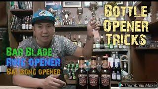 Bottle Opener Tricks / Bar Blade / Ring Opener / Balisong Opener
