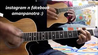 Tere Bin Nai Lagda Dil Mera - Simmba - Hindi Guitar Cover Lesson chords easy version
