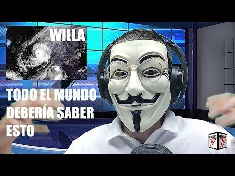 URGENTE: ATAQUE HAARP HURACÁN WILLA SE APROXIMA A MÉXICO (ver vídeo antes de que sea borrado)