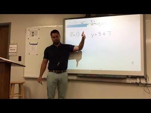 Algebra 1 - Open Sentences