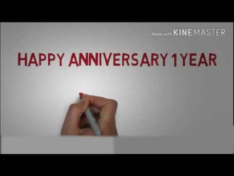 Happy Anniversary 1 Tahun Youtube