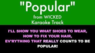 Popular from Wicked - Karaoke Track with Lyrics