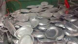 aluminium foil container mould production testing small service tray