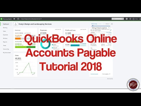 Quickbooks Online Accounts Payable Tutorial 2018 – Understanding AP in Quickbooks Online