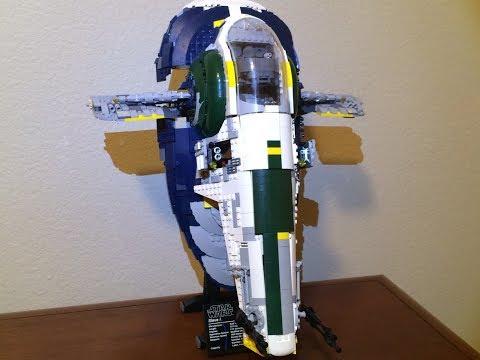 Custom Mod: LEGO Jango Fett's Slave-I: Seismic Charges and Upgraded Interior 75060 UCS Star Wars