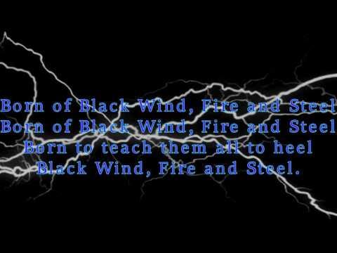 Manowar - Black Wind, fire and steel (lyrics)