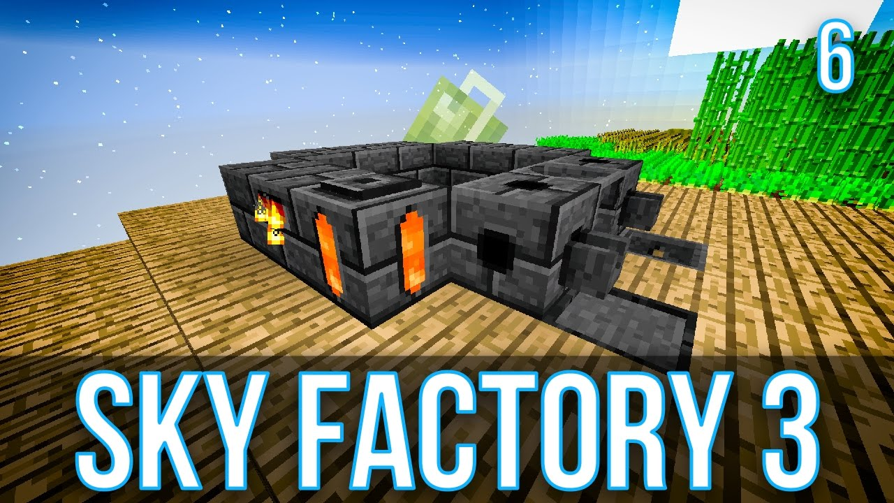 ORE DOUBLING USING A SMELTERY | SKY FACTORY 3 | EPISODE 6