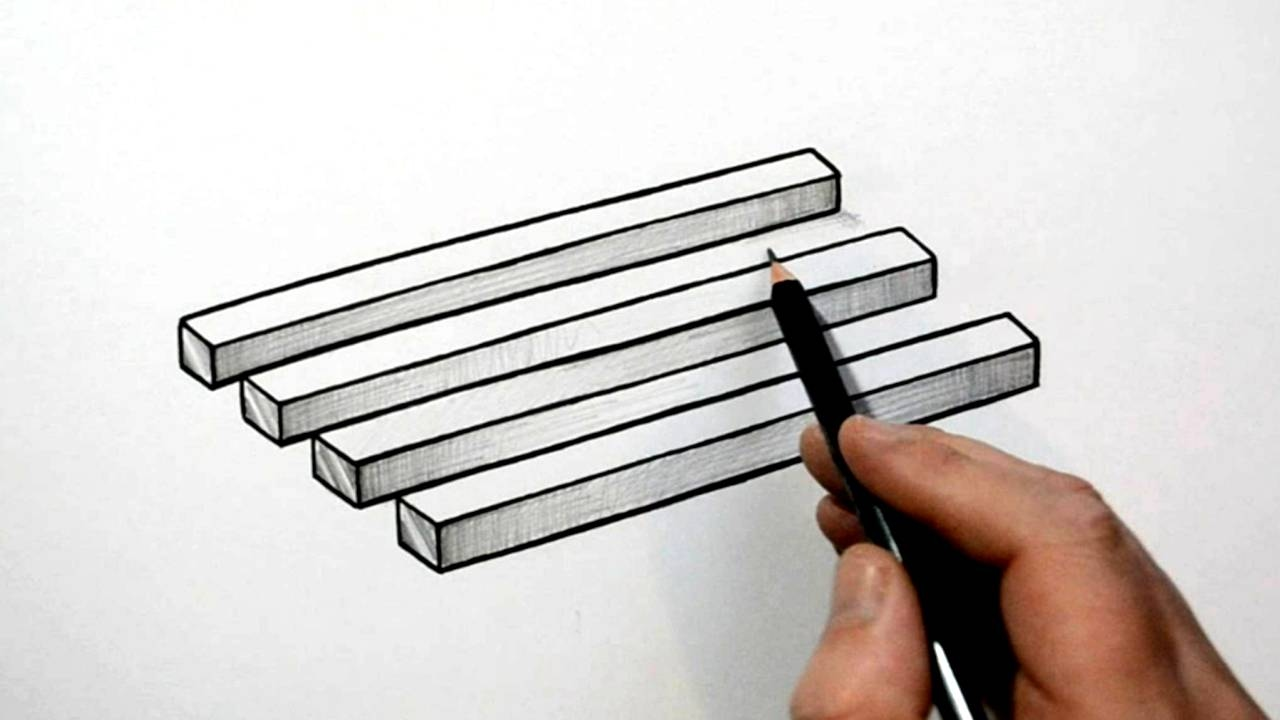 optical illusion draw 3d simple cool illusions zeichnen penrose pencil optische einfach gemerkt von
