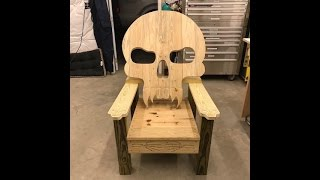 Building a Skull themed lawn chair. I may try to post a cut list in the future.