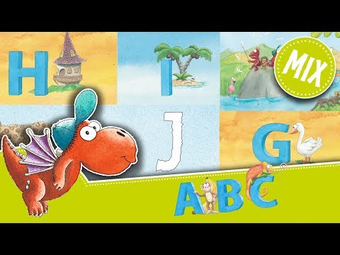 Alphabet lernen - Der kleine Drache Kokosnuss und die Buchstaben: F bis J  – Lernvideo für Kinder