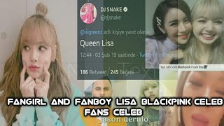 Fangirl and fanboy lisa blackpink (celeb fans celeb)
