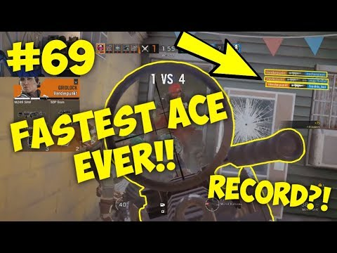 Fastest Ace EVER in Rainbow6 Siege! | Rainbow Six: Siege