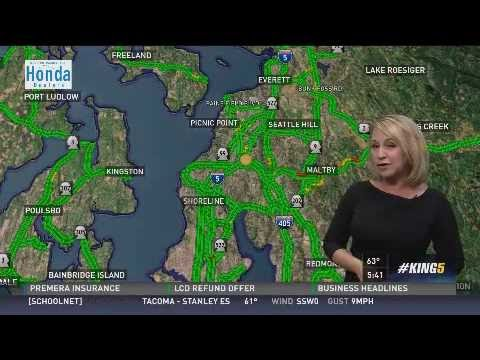 King 5 Traffic Map.Traffic Report On King 5 Youtube