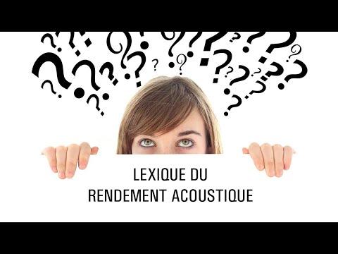 Lexique du rendement acoustique
