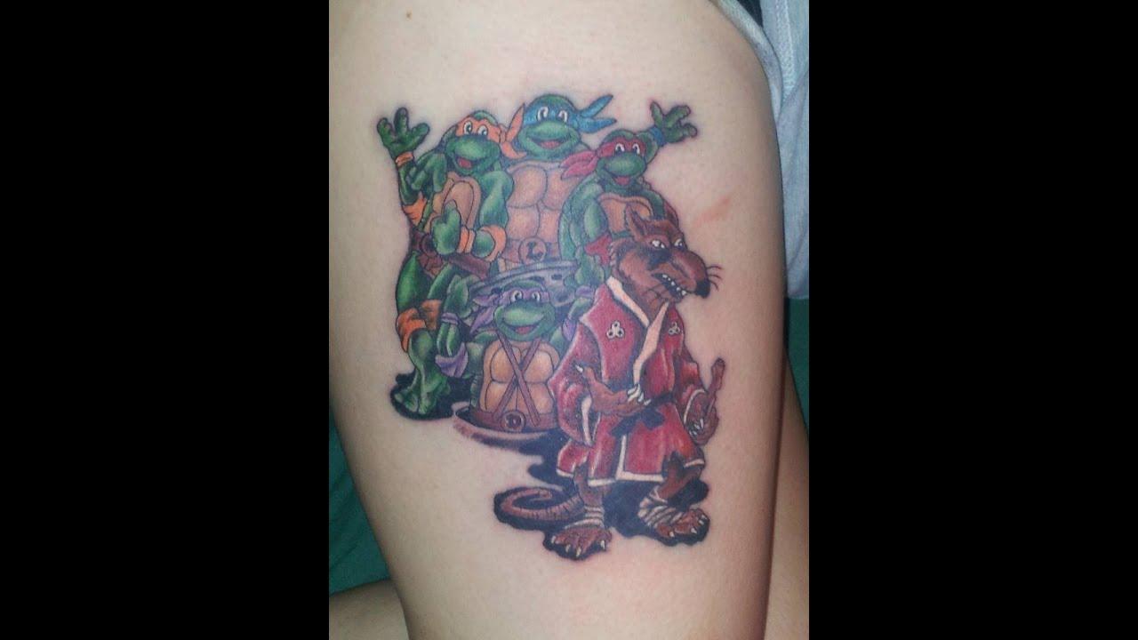 Girl Get's Teenage Mutant Ninja Turtles Tattoo - YouTube