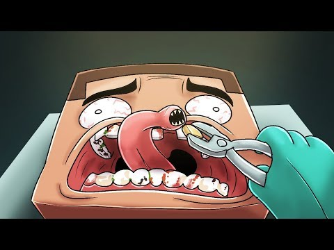 Minecraft - PSYCHO DENTIST CHALLENGE! (Extract the ROTTED Teeth)