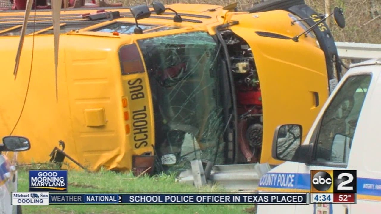 School bus crash injures driver, students near Hereford High School in  Baltimore County