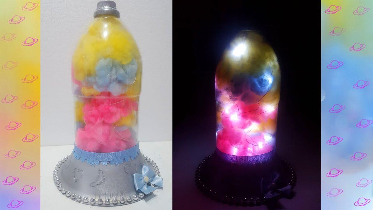 Lampara con botella de plástico - Reciclaje
