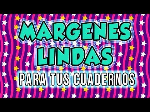 MARGENES Bonitos y Faciles Para Cuadernos para adolescentes / Lorena G ♥