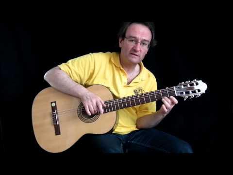 Erste einfache Gitarren-Akkorde D-Dur